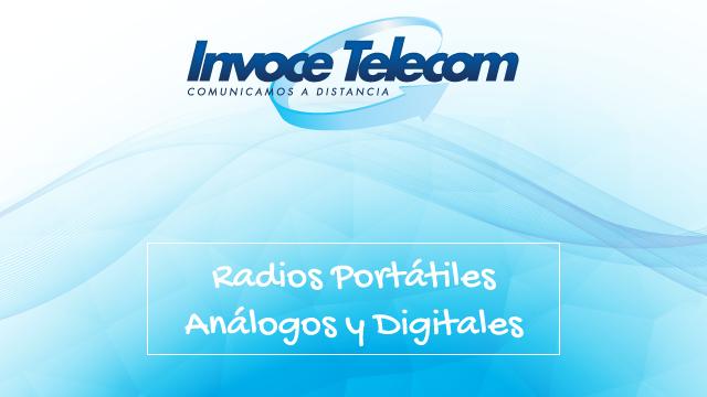 Radios portátiles análogos y digitales